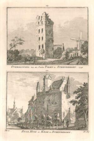 STEENBERGEN. Stadhuis en kerk.