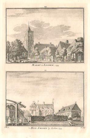 LOCHEM. Markt en 't Huis Amssen.