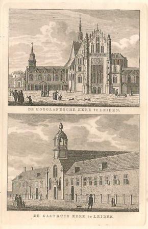 LEIDEN. Hooglandse Kerk en Gasthuiskerk.