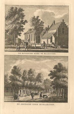 MAARSSEN. Roomse Kerk en Synagoge.
