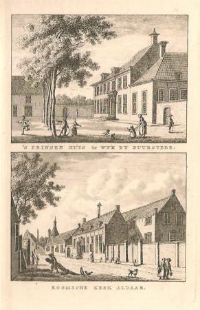 WIJK BIJ DUURSTEDE. Prinsenhuis en Roomse Kerk.