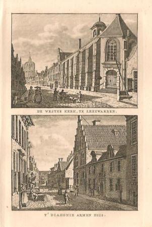 LEEUWARDEN: Westerkerk en Armenhuis.