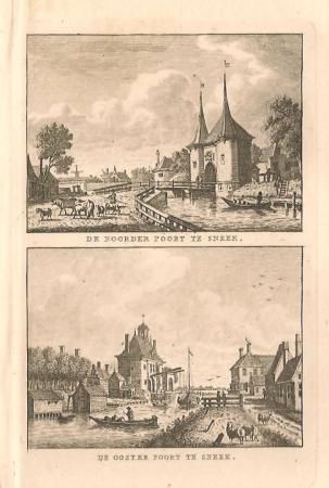 SNEEK: Noorderpoort en Oosterpoort.