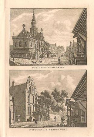BOLSWARD: Stadhuis en Hooghuis.
