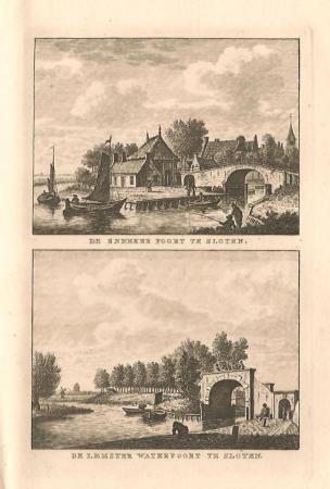 SLOTEN: Snekerpoort en Lemsterpoort.