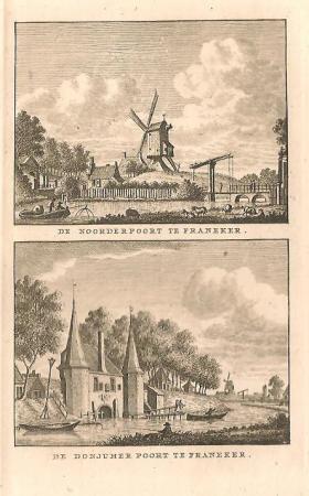 FRANEKER. Noorderpoort en Donjumer poort.