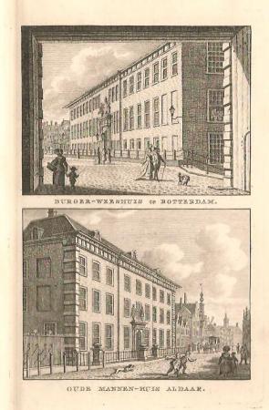 ROTTERDAM. Burgerweeshuis en Oude Mannenhuis