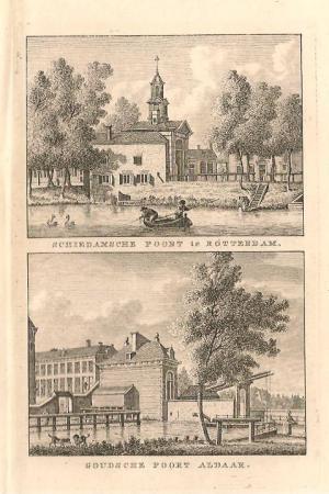 ROTTERDAM. Schiedamse Poort en Goudse Poort