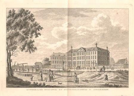 AMSTERDAM. Nieuwe Keizersgracht: Luthers Diaconie- en Bestedelingenhuis