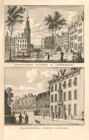 AMSTERDAM. Munttoren en Kloveniersdoelen.