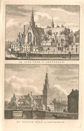 Amsterdam. Westerkerk en Oude Kerk