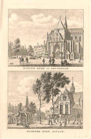 AMSTERDAM. Nieuwe kerk en Noorderkerk
