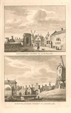 ALKMAAR. Kennemerpoort en Nieuwlanderpoort.