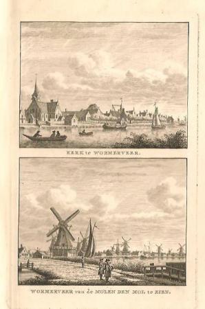 WORMERVEER. Kerk en Windmolens