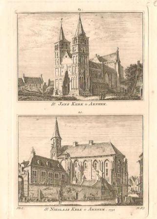 ARNHEM. St. Janskerk en St. Nikolaaskerk.
