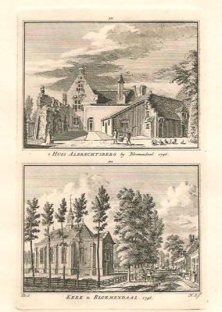BLOEMENDAAL. Albrechtsberg en Kerk.