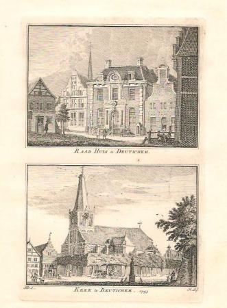 DOETINCHEM. Raadhuis en kerk.