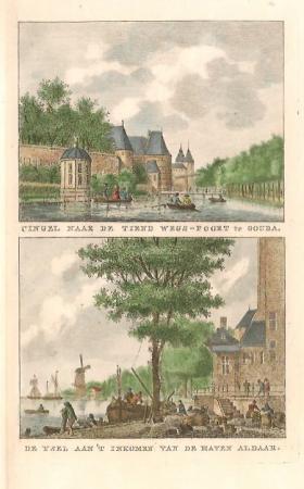 GOUDA. Singel en gezicht naar de Hollandse IJssel.
