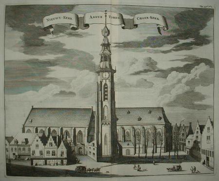 MIDDELBURG. Abdijtoren met kerken.