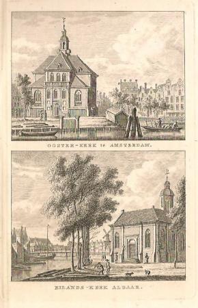 AMSTERDAM. Oosterkerk en Eilandskerk.