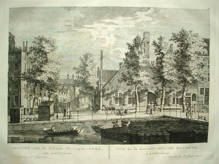 AMSTERDAM. Prinsengracht. Molenpad. 'Nieuwe Waalen-kerk'.