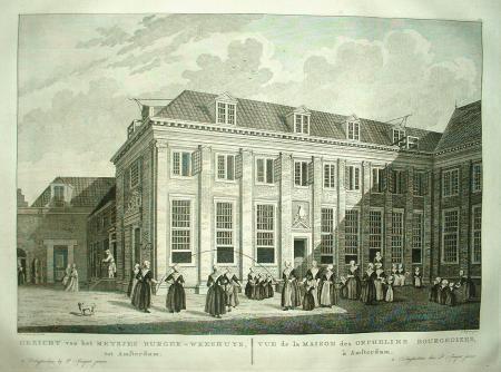 AMSTERDAM. Burgerweeshuis meisjes. Amsterdams Museum.