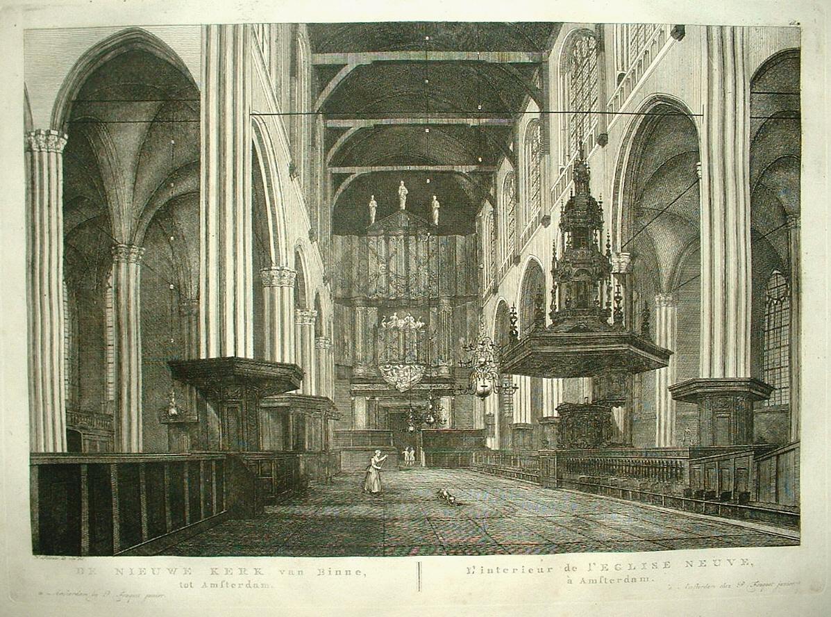 Amsterdam nieuwe kerk interieur met orgel p fouquet for Interieur amsterdam