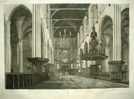 AMSTERDAM. Nieuwe Kerk. Interieur met orgel.