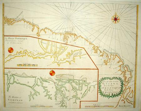 ZUID-AMERIKA: Kust Guyana, Suriname en Frans-Guyana.