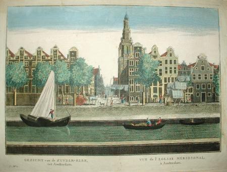 AMSTERDAM. Zuiderkerk. Op de voorgrond de Raamgracht.