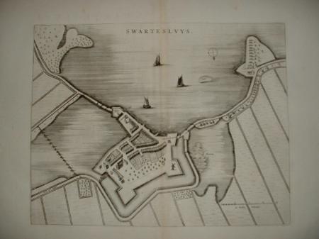 ZWARTSLUIS. Stadsplattegrond.