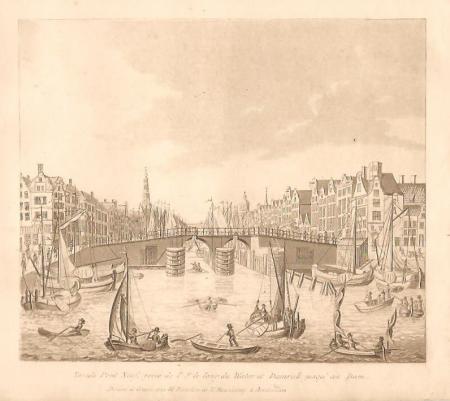 AMSTERDAM. Nieuwe Brug. Damrak en Prins Hendrikkade.