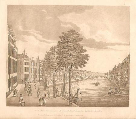 AMSTERDAM. Herengracht gezien vanuit de Vijzelstraat.