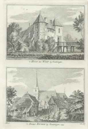 ETTEN. Huis het Wilt en dorp.