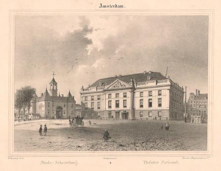 AMSTERDAM. Leidseplein. Stadsschouwburg en Leidsepoort.