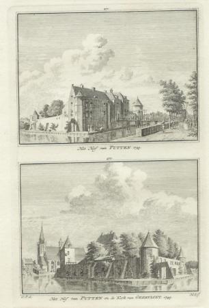 GEERVLIET. Hof van Putten en kerk.