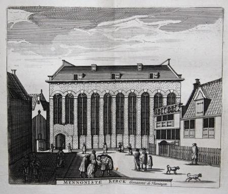AMSTERDAM. Doopsgezinde Kerk 'Bij het Lam', Herengracht 431 en Singel 452
