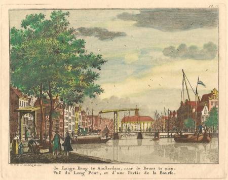 AMSTERDAM. Rokin. Gezicht richting Langebrug en oude Beurs.