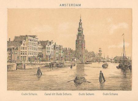 AMSTERDAM. Oude Schans. Montelbaanstoren.
