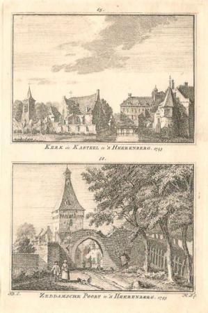 HEERENBERG'S-. Kerk en Zeddamsche poort.