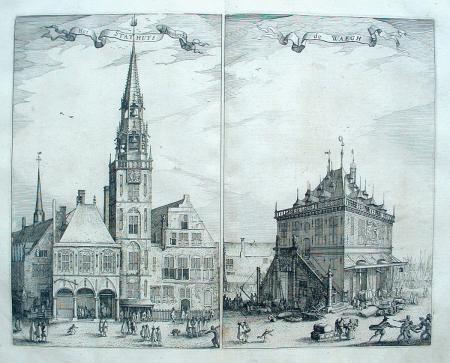 AMSTERDAM. Dam. Oude Stadhuis en Waag.