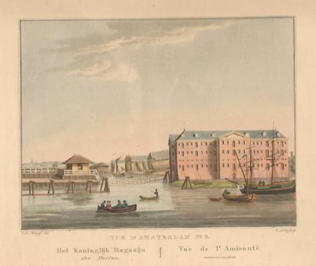 AMSTERDAM. Marinewerf en 's-Lands Zeemagazijn.