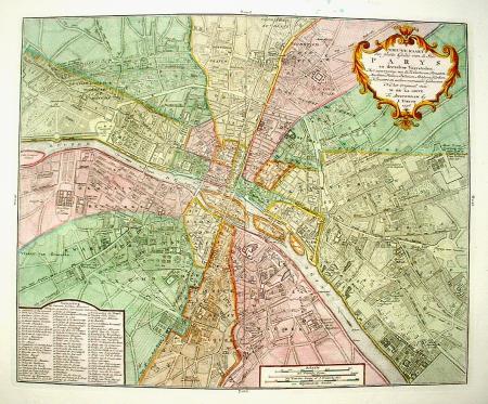 Frankrijk. Parijs. Stadsplattegrond.