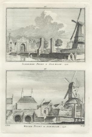 ALKMAAR. Schermerpoort en Waterpoort.