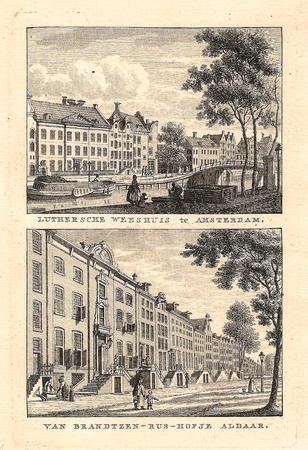 AMSTERDAM. Luthers weeshuis en gebouw van barmhartigheid