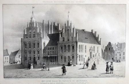 Groningen. Het Oude Raad en Wijnhuis.