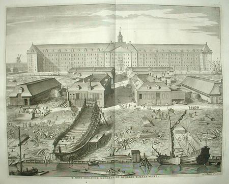 AMSTERDAM. VOC. Oostenburg. Oostindisch Magazijn en scheepstimmerwerf.