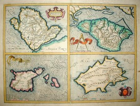 Verenigd Koninkrijk. Anglesey, Wight, Guernsey en Jersey