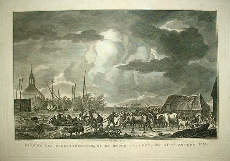 HOOGE ZWALUWE. Overstroming 1776.
