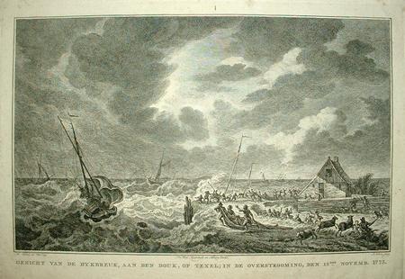 TEXEL. Dijkdoorbraak 1775.